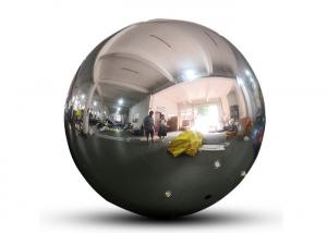 PVC Festival Decorative Inflatable Hanging Mirror Ball/Balloon,Silver Reflective mirror Sphere Manufactures