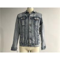Popular Light Wash Denim Jacket Mens Sherpa Lined Trucker Jacket TW76524 Manufactures