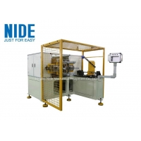Single Working Station Automatic Coil Winding Machine / Big Coil Motor Stator