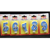 Handmade Number Candle with Blue Edge and Blue Painted with little blue Dolphin Manufactures