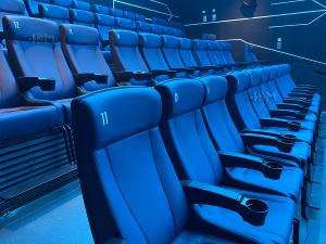 Modern 4D Cinema Motion Seats Leather Chair Pneumatic / Electronic Effects Manufactures