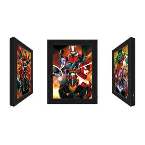 Outdoor LED 3D Lenticular Light Box,Led Lenticular Light Box With Marvel Movie Character Design Manufactures