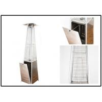 Square Flame Stand Up Outdoor Heater For Covered Porch High Efficiency Manufactures