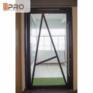 Floor Spring Aluminum Pivot Doors For Interior House Customized Size Manufactures
