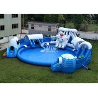 Snow N ice world giant inflatable water park on land with big inflatable pool for kids N adults Manufactures