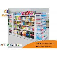 Adjustable Color Supermarket Gondola Shelving Strong Construction Capacity Manufactures