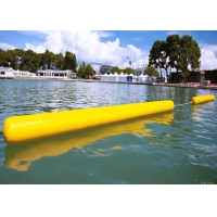 Customize Floating 0.9mm PVC Yellow Inflatable Long Cylinder Buoy Tube For Water Park Manufactures