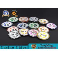 ABS Casino RFID chips 12g Clay Poker Chips With Ultimate Sticker , 40mm Diameter Manufactures