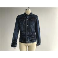 Dark Mottled Wash Mens Denim Jacket And Jeans / Denim Jean Jacket TW76378 Manufactures