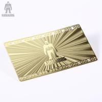 Innovative Brass Personal Metallic Gold Business Cards Different Pattern Option Manufactures