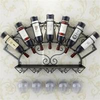 Stemware Metal Wall Mounted Wine Glass Rack , Trendy 7 Bottle Wine Rack Manufactures