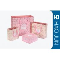 Custom Boutique Shopping Bags 100% Recyclable Gift Paper Bags Pink Color Manufactures