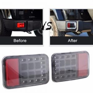 LED Tail Rear Back Bumper Light Parking Back up Reverse Brake Lamp for 1997~2016 Jee-p Wrangler JK 6500K Manufactures