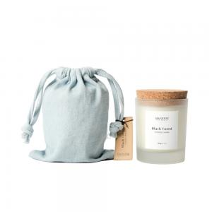 Gift Bag White Soy Wax Scented Candles With Cork Lid Manufactures