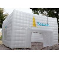 Large White Inflatable Cube Tent 420 D Oxford Cloth Apply To Trade Show Manufactures