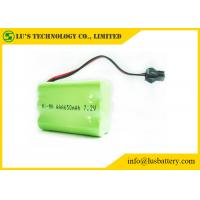 7.2V 650mah AAA Nickel Metal Hydride Rechargeable Batteries With Green PVC Manufactures