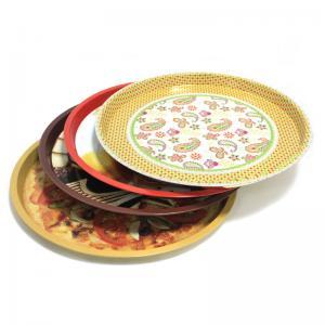 custom metal round fruit tin trays Manufactures