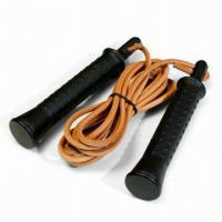 9ft Leather Jump Rope with Nylon Handle Manufactures