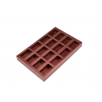 Buy cheap 18 Cavity Wine Red Non Stick Square Cupcake Pan from wholesalers