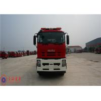 6x4 Drive Foam Rescue Fire Truck 257KW Power With Double Row Structure Cab