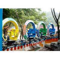 Multi Color UFO Cycle Monorail Ride , Track Car Model Roller Coaster Attractions Manufactures