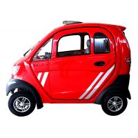 60km Travel Range Small Electric Cars , 60V 60Ah Battery Red Colour 4 Wheels Small Battery Car Manufactures