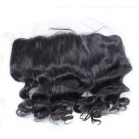 Buy cheap Frontal Closure Front Lace Human Hair Wigs Brazilian Weaves Full Ends For Black Women from wholesalers