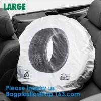 Tire Storage Bags Car Plastic Tire Bags For Automotive Interior Protection, Auto Repair Shops Tire Covers For Wheel Manufactures