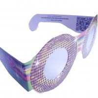Customization Size holographic 3d fireworks glasses paper with 0.06mm PVC / PET laser lenses Manufactures