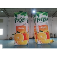 Square Shape Custom Size Inflatable Drinking Bottle Cartoon Model Manufactures