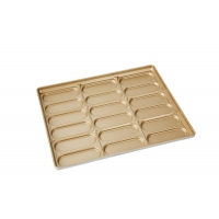 600x400x45mm PTFE Golden Hot Dog Bun Baking Pan Manufactures