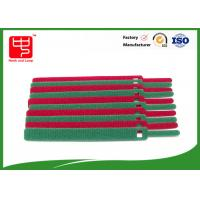 Strong holding colored hook and loop cable tie with small hole 100pcs / polybag Manufactures