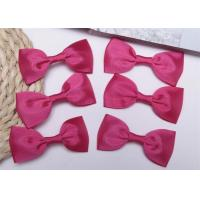 Pink Tie Christmas Ribbon Bow Tie , Satin Ribbon Bows Eco Friendly Manufactures