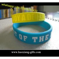 Buy cheap hot sale High quality promotional colorful debossed silicone wristband/bracelet from wholesalers