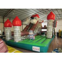 Indoor Playground Inflatable Fun City , Commercial Children Castle Bounce House Manufactures