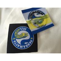 Heat Cut Woven Iron On Garment Labels With Glue Back , Custom Name Labels For Clothing Manufactures