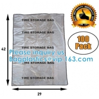 Disposable Custom Pe Ldpe Clear Plastic Car Spare Tire Tote Storage Cover Tyre Packaging Bag With Logo Manufactures