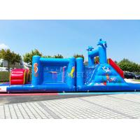 14 M Long Inflatable Tunnel Outdoor Obstacle Course Equipment Electric Blower Manufactures