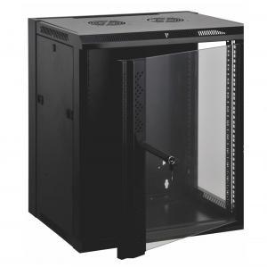12u Wall Mount Data Cabinet Wall Network Cabinet Customized Logo Door Design Manufactures