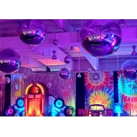 Giant Double Layer Sliver PVC Inflatable Mirror Ball Inflatble Mirror Balloon For Event Decoration Manufactures