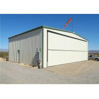 Q235 Q345 Low Carbon Steel Structure Hangar With Hot Dipped Galvanized Manufactures