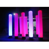 Colorful Inflatable Column Built In Blower With Led Light / Repair Kit Manufactures