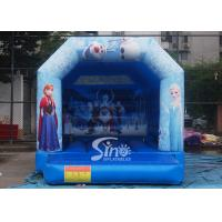 Commercial grade kids frozen bouncy castle with roof made of 610g/m2 pvc tarpaulin Manufactures