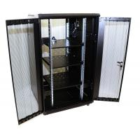 Floor Standing Network Equipment Rack For Data Center Dual Vented Doors 32U Size Manufactures