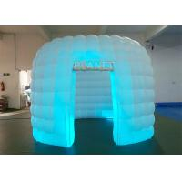 Portable 1 Door White Inflatable Photo Booth / Trade Show Booth For Event Manufactures