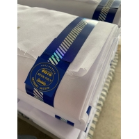 100% Jacquard selvedge SPUN  VOILE SUPER HIGH TWISTED WHITE BLUISHWHTE QUALITY FINISH صنع في اليابان Manufactures