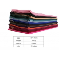 High quality spun polyester voile p/dyed fabric for muslim shawl , scarf , dress, embroidery super fine quality top Manufactures