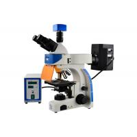 Professional Trinocular Upright Fluorescence Microscope 100W Mercury Lamp Manufactures