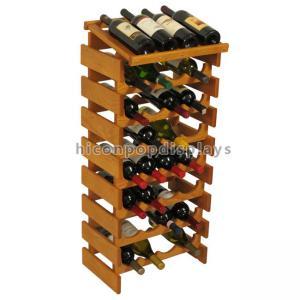 Custom Wine Display Stand Wine Shop Retail Advertising Wood Floor Wine Rack Manufactures
