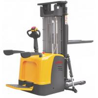 Straddle Pallet Electric Stacker Truck High Performance 6.5m Lift Height Manufactures